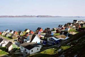 Navigazione costa ovest della Groenlandia con volo da Copenhagen